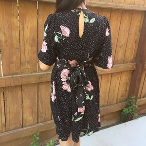 Dots & Floral Dress